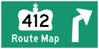 HWY 412 (TOLL) ROUTE MAP - © Cameron Bevers