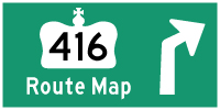 HYPERLINK TO HWY 416 ROUTE MAP PAGE - © Cameron Bevers