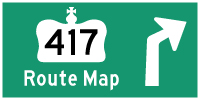 HWY 417 ROUTE MAP - © Cameron Bevers