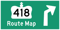 HYPERLINK TO HWY 418 (TOLL) ROUTE MAP PAGE - © Cameron Bevers
