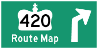 HYPERLINK TO HWY 420 ROUTE MAP PAGE - © Cameron Bevers