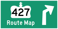 HWY 427 ROUTE MAP - © Cameron Bevers
