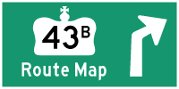 HYPERLINK TO HWY 43B ROUTE MAP PAGE - © Cameron Bevers