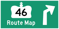 HWY 46 ROUTE MAP - © Cameron Bevers