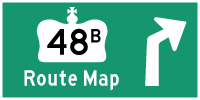 HWY 48B ROUTE MAP - © Cameron Bevers