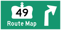 HWY 49 ROUTE MAP - © Cameron Bevers