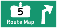 HWY 5 ROUTE MAP - © Cameron Bevers