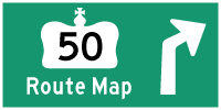 HWY 50 ROUTE MAP - © Cameron Bevers