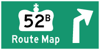 HWY 52B ROUTE MAP - © Cameron Bevers