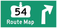 HWY 54 ROUTE MAP - © Cameron Bevers