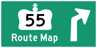 HYPERLINK TO HWY 55 (#1) ROUTE MAP PAGE - © Cameron Bevers