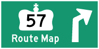 HWY 57 ROUTE MAP - © Cameron Bevers