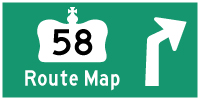 HWY 58 ROUTE MAP - © Cameron Bevers