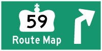 HWY 59 ROUTE MAP - © Cameron Bevers