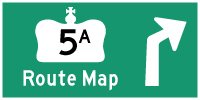 HWY 5A ROUTE MAP - © Cameron Bevers
