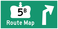 HYPERLINK TO HWY 5B ROUTE MAP PAGE - © Cameron Bevers