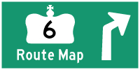HWY 6 ROUTE MAP - © Cameron Bevers