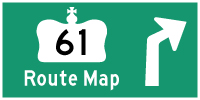 HWY 61 ROUTE MAP - © Cameron Bevers
