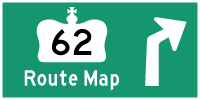 HWY 62 ROUTE MAP - © Cameron Bevers