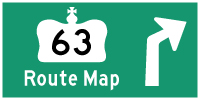 HWY 63 ROUTE MAP - © Cameron Bevers