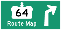 HWY 64 ROUTE MAP - © Cameron Bevers