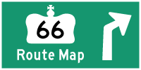 HWY 66 ROUTE MAP - © Cameron Bevers