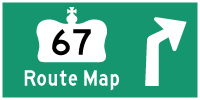 HWY 67 ROUTE MAP - © Cameron Bevers