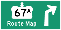 HWY 67A ROUTE MAP - © Cameron Bevers