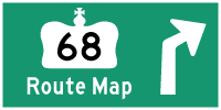 HWY 68 ROUTE MAP - © Cameron Bevers