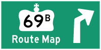 HWY 69B ROUTE MAP - © Cameron Bevers