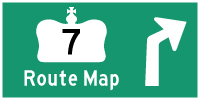 HWY 7 ROUTE MAP - © Cameron Bevers