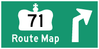 HWY 71 ROUTE MAP - © Cameron Bevers