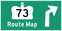 HWY 73 ROUTE MAP - © Cameron Bevers