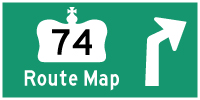 HYPERLINK TO HWY 74 ROUTE MAP PAGE - © Cameron Bevers
