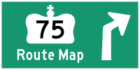 HWY 75 #1 ROUTE MAP - © Cameron Bevers