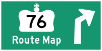 HWY 76 ROUTE MAP - © Cameron Bevers