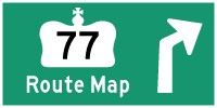 HWY 77 #2 ROUTE MAP - © Cameron Bevers