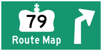 HWY 79 ROUTE MAP - © Cameron Bevers