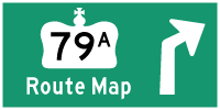 HWY 79A ROUTE MAP - © Cameron Bevers