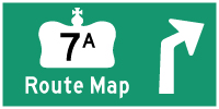 HWY 7A ROUTE MAP - © Cameron Bevers