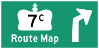 HWY 7C ROUTE MAP - © Cameron Bevers
