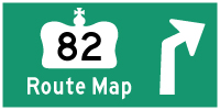 HWY 82 ROUTE MAP - © Cameron Bevers