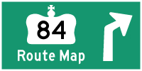 HYPERLINK TO HWY 84 ROUTE MAP PAGE - © Cameron Bevers