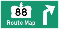 HWY 88 ROUTE MAP - © Cameron Bevers