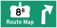 HWY 8B SHEFFIELD ROUTE MAP - © Cameron Bevers