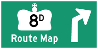 HWY 8D ROUTE MAP - © Cameron Bevers