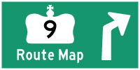 HWY 9 ROUTE MAP - &#169; Cameron Bevers