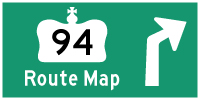 HWY 94 ROUTE MAP - © Cameron Bevers
