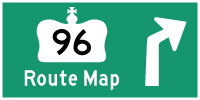 HWY 96 ROUTE MAP - © Cameron Bevers