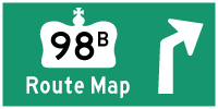 HYPERLINK TO HWY 98B ROUTE MAP PAGE - © Cameron Bevers